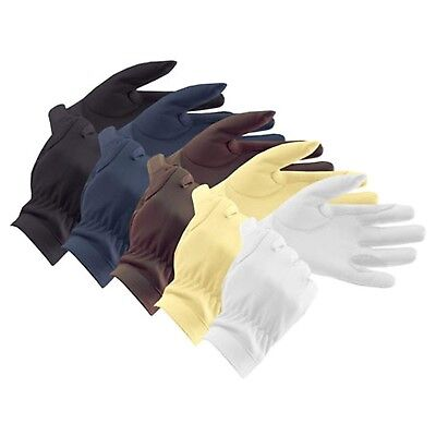(15cm , Brown) - Equetech Leather Showing Everyday Riding Glove. Unbranded