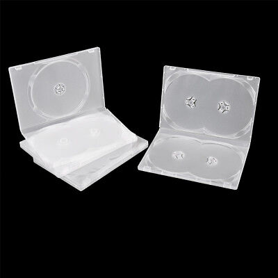2PCS Standard Clear 3/4 Disc Holds DVD CD Case Movie Box Storage Holder Cover PA
