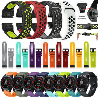 Replacement Silicone Watch Band Strap For Garmin Fenix 3HR/5X/Forerunner 935/5S