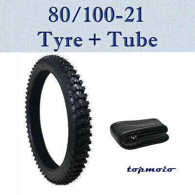 Motorcycle 80/100-21 inch Knobby Tyre Tire + Inner Tube For 150-250cc Dirt Bike
