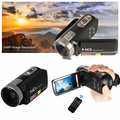 "FULL HD 1080P 24MP 3"" Touch Screen LCD 16xZOOM Digital Video Camera DV Camcorder"