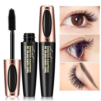 Mascara 4d Fiber Silk Eyelash Extension Waterproof Makeup Kit Black Eye Lashes