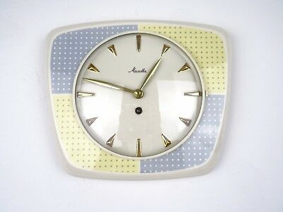 MAUTHE Retro Vintage Ceramic Kitchen German Wall Clock (Junghans Kienzle era)