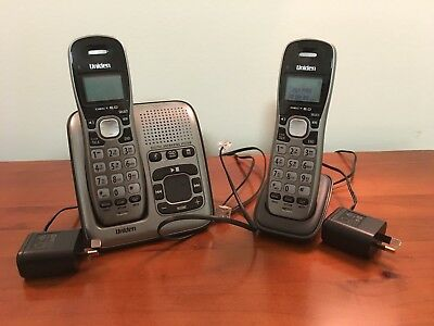 Uniden DECT1735+1 Twin Handset Cordless Phone with Digital Answering Machine