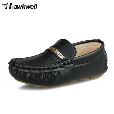438e24f037a Kids Comfort Slip-on Loafers Boys Casual Flat Walking Driving Shoes Hawkwell