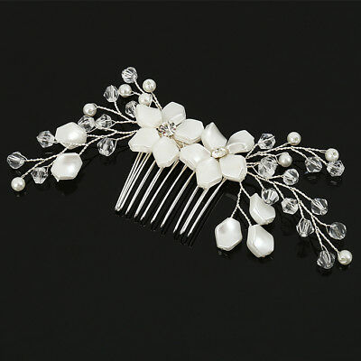 2PCS Vintage Wedding Bridal Pearl Crystal Hair Pins Damigella d'onore Clip Combs