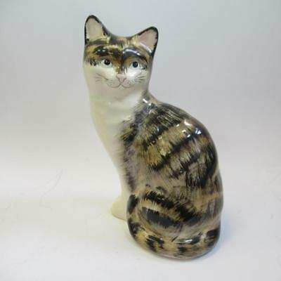 Collectable Vintage Babbacombe Pottery Cat Figurine - Decorated By P Laureston