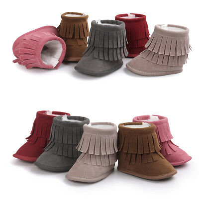 Beautiful Prewalker Shoes Kids Warm Cute Infant Toddler Crib Baby Boots Tassel