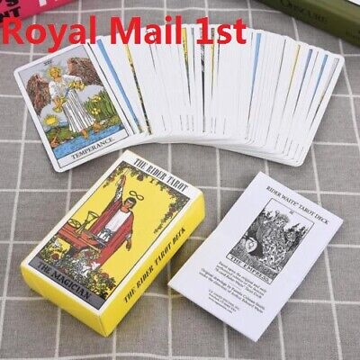 Tarot Cards Deck Vintage Antique High Quality Colorful Card Box Game 78 Cards UK
