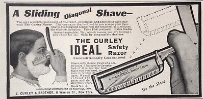 1904 Ad(H19)~J.curley & Brother Nyc. The Curley Ideal Safety Razor