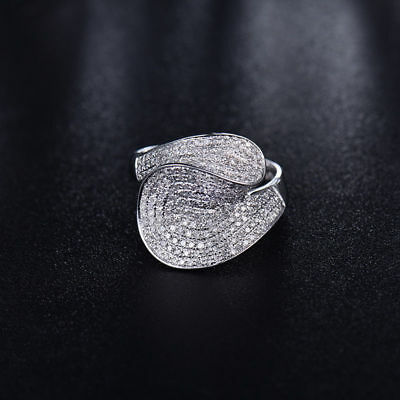 18ct White Gold Stunning Natural Top Quality Diamonds Cocktail Ring VS