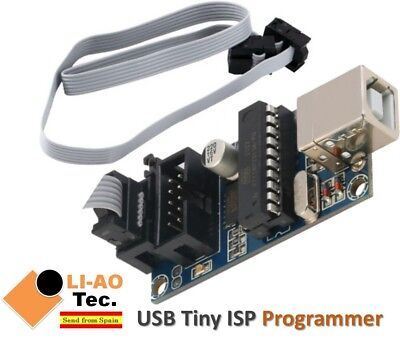 USBTiny USBtinyISP USB Tiny AVR ISP Programmer Bootloader with Programming Cable