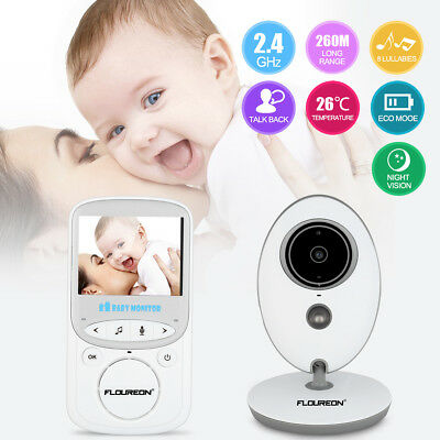 FLOUREON 2.4 inch LCD Baby Monitor Wireless Digital Audio Video Camera Security