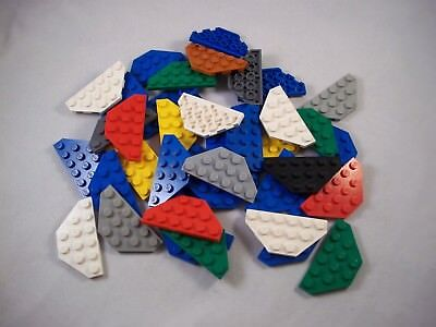 Job Lot of 41 Used LEGO Wedge Plates 3 x 6 Cut Corners 2419 - Several Colours