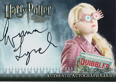 Harry Potter & The Half Blood Prince, Evanna Lynch 'Luna Lovegood' Auto Card