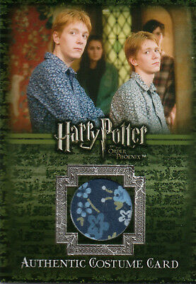 Harry Potter & The Order of The Phoenix, George Weasley Relic Card #112/260