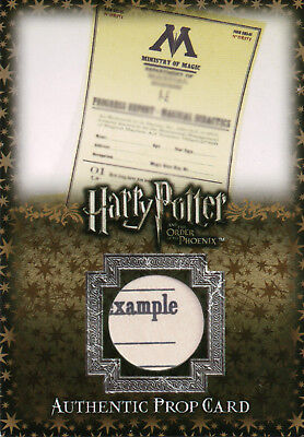 Harry Potter & The Order of The Phoenix, Progress Reports Prop Card #025/335