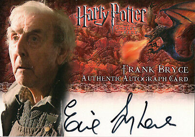 Harry Potter & The Goblet of Fire,Eric Sykes 'Frank Bryce' Auto Card
