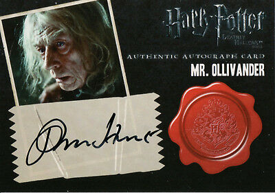 Harry Potter & The Deathly Hallows, John Hurt 'Mr Ollivander' Auto Card