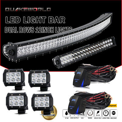 """52""""300W Curved LED Light Bar+22""""+4""""Pods for Can-am Maverick X3 MAX 4x4 Turbo"""