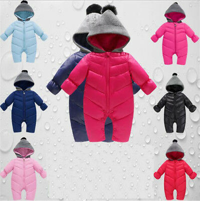 Infant Baby Newborn Winter Warm Down Jumpsuit Romper Boys Girls Climbing Clothes