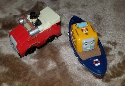 Rare Lot of 2 Diecast Thomas & Friends Take-n-Play Winston & DC Captain Boat