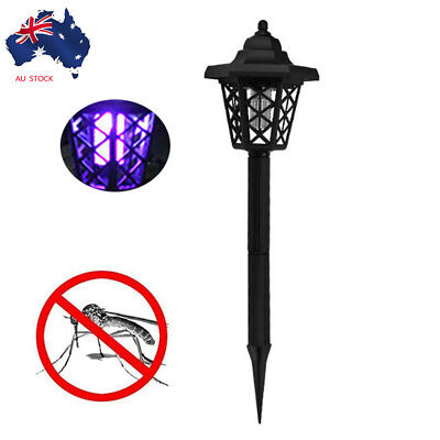 Solar Powered LED Light Mosquitos Pest Bug Zapper Insect Killer Lamp Garden AU N
