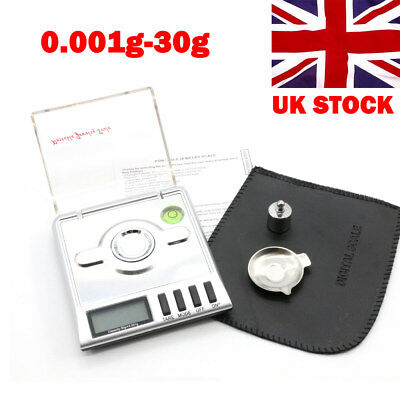 0.001g-30g High Precision Scales Digital Milligram Diamond Jewelry Weight Scale