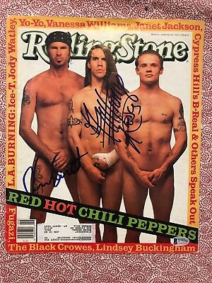 Red Hot Chili Peppers Signed Rolling Stone Autographed Auto BAS not PSA