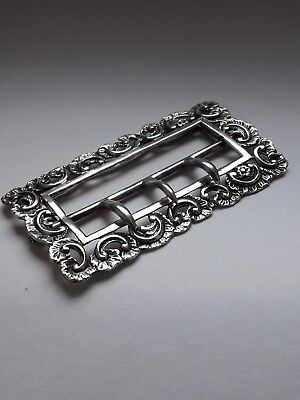 Victorian Sterling Silver Large Belt Buckle-WILLIAM COMYNS London 1893. 28g.