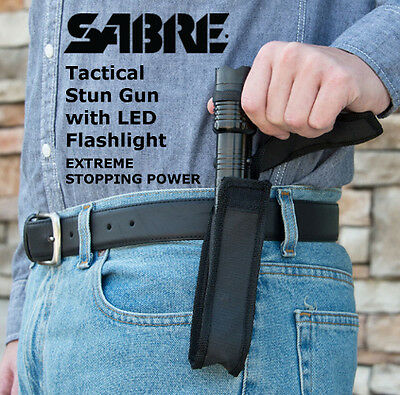 SABRE Tactical Stun Gun with LED Flashlight/ Extreme Stopping Power SABER DEALER