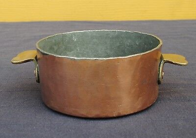 Antique french heavy copper / brass charlotte mold pot thickness  2,5 mm