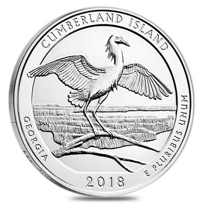2018 5 oz Silver America the Beautiful ATB Georgia Cumberland Island National