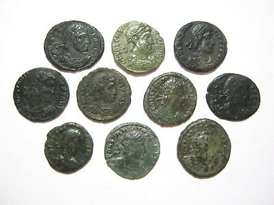 Lot of 10 Ancient Roman Bronze Coins (01)