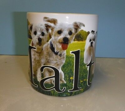 Maltese Dog Americaware Texture 3D Embossed Coffee Large Mug  / Cup