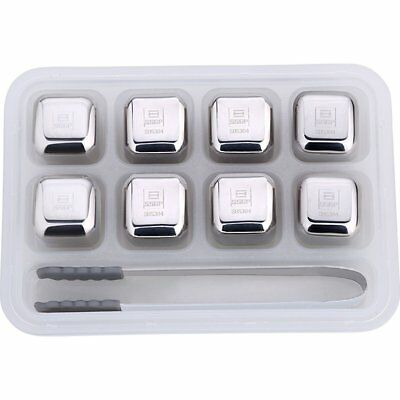 Whisky Ice Cubes Reusable Stainless Steel Whisky Stones UK1