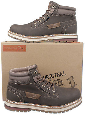 Mens New Brown Lace Up Casual Fashion Ankle Boots Size 6 7 8 9 10 11 12