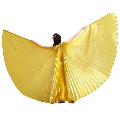 Women's Iridescent Isis Wings for Egyptian Belly Dancing with Telescopic Sticks