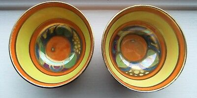 TWO Grays Pottery Susie Cooper GLORIA LUSTRE Bowls