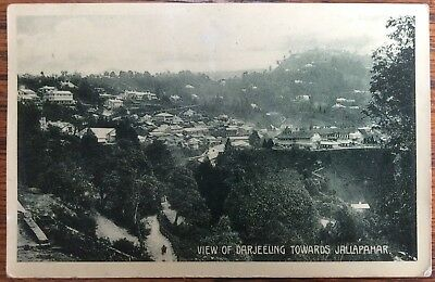 Antique Pc View Of Darjeeling West Bengal India Towards Jallapahar Marcopolo Co.