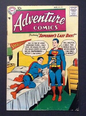 Adventure Comics #251 (Aug 1958, DC) LEGENDARY CLASSIC COMIC BOOK SERIES