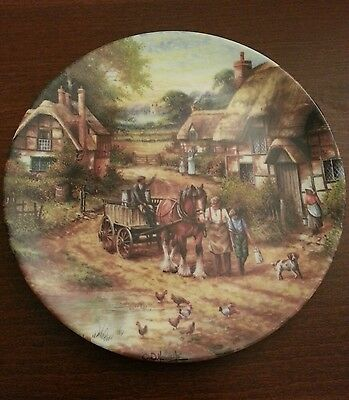 Wedgwood Country Days Collector Plate By Chris Howells - Early Morning Milk