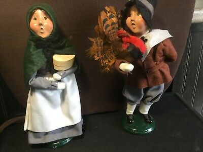 Byers Choice Pilgrim Boy and Girl Vintage 1996