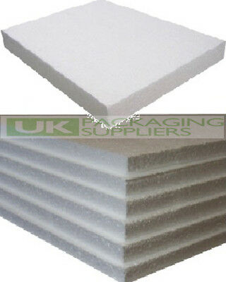 5 WHITE POLYSTYRENE FOAM SHEETS EPS70 SIZE 600 x 400 x 25mm SDN INSULATION
