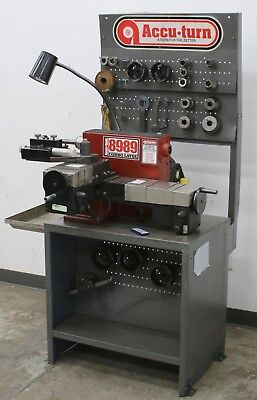 AccuTurn 8989 Heavy Duty Disc & Drum Brake Lathe w/ Stand, Tooling & Accessories