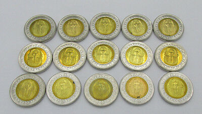 Egyptian Pound Coin Egypt King Tut lot of 15 round coins uncirculated