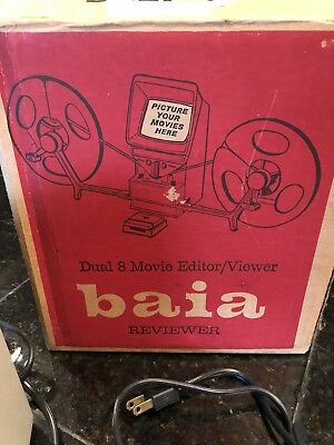 Vintage Baia Dual 8mm Film Reviewer Editor Viewer