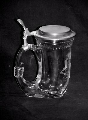 Foundation For North American Wild Sheep FNAWS Pewter Lidded Glass Beer Stein