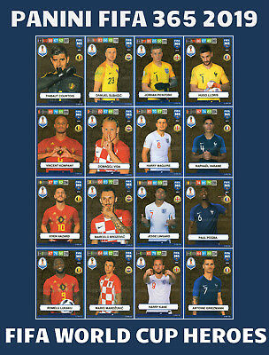 Panini Adrenalyn Xl Fifa 365 2019 Fifa World Cup Heroes 2018