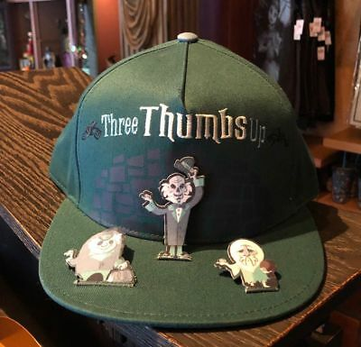 Disney Parks Haunted Mansion Hitchhiking Ghosts Three Thumbs Up Pop Up Hat Cap